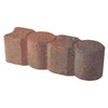 Red/Charcoal Geometric Edging Stone (Common: 3-in x 12-in; Actual: 3.1-in H x 12-in L)