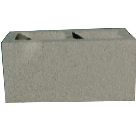 Lee Masonry Standard Cored Concrete Block (Common: 8-in x 8-in x 16-in; Actual: 7.625-in x 7.625-in x 15.625-in)