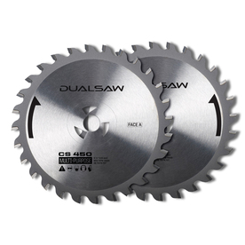 DualSaw Dual 2-Pack 4-1/2-in. All Purpose Circular Saw Blade Set