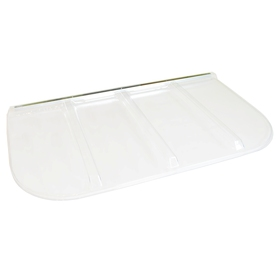 Shape Products 69-1/2-in x 38-1/4-in x 2-in Plastic U-Shaped Fire Egress Window Well Covers WW6938UM
