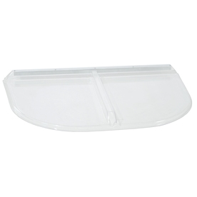 Shape Products 57-3/4-in x 38-in x 2-in Plastic U-Shaped Fire Egress Window Well Covers WW5838UMB