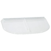 Shape Products 57-3/4-in x 38-in x 2-in Plastic U-Shaped Fire Egress Window Well Covers