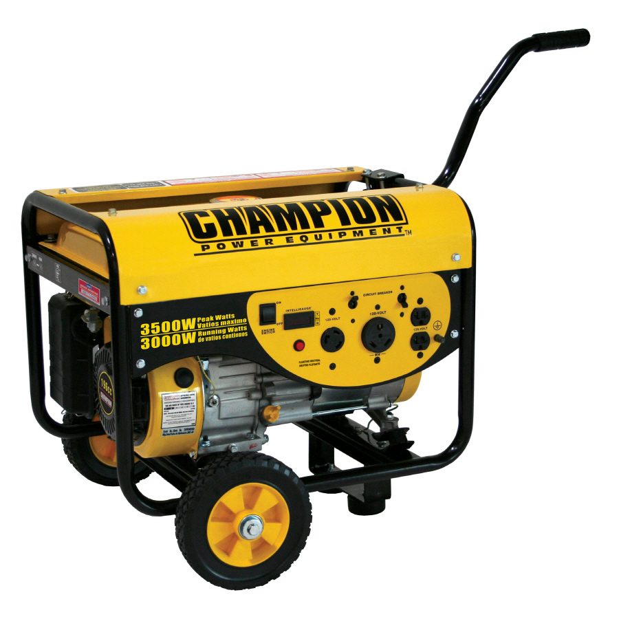 Shop champion 3 000 running watts portable generator with champion engine at - Choosing a gasoline powered generator ...