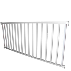 Wolf Handrail 42-in x 72-in White Aluminum Porch Rail
