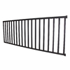 Wolf Handrail 42-in x 96-in Deep Bronze Aluminum Porch Rail