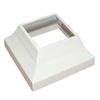 Wolf Handrail 3-in x 3-in White  Aluminum Post Decorative Base Cover