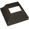 Wolf Handrail 3-in x 3-in Bronze Aluminum Post Decorative Base Cover