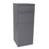 dVault 19-in x 47.75-in Metal Gray Lockable Ground Mount Mailbox