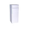 dVault 19-in x 47.75-in Metal White Lockable Ground Mount Mailbox