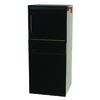 dVault 14.5-in x 34.25-in Metal Black Lockable Post Mount Mailbox