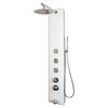 PULSE Hanalei 3-Way White Glass with Chrome Fixtures Shower Panel System