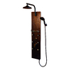PULSE 4-Way Hammered Copper with Oil-Rubbed Bronze Fixtures Shower Panel System