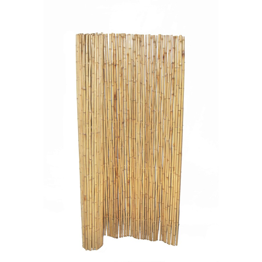 Shop bamboo buddy 6 ft x 8 ft yellow bamboo outdoor for Outdoor bamboo privacy screen