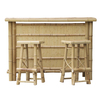 Bamboo Buddy 25-in x 64-in Rectangle Wood Patio Bar-Height Table