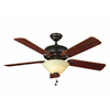 Harbor Breeze 52-in Halston II Aged Bronze Ceiling Fan with Light Kit
