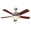 Harbor Breeze 52-in Halston II Brushed Nickel Indoor Ceiling Fan with Light Kit