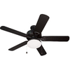 Harbor Breeze 52-in Bronze Outdoor Ceiling Fan with Light Kit ENERGY STAR