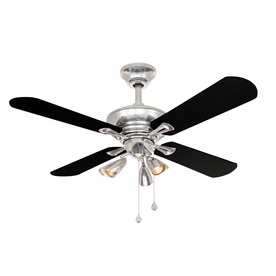 Harbor Breeze 44-in Downrod Mount Indoor Ceiling Fan with Light Kit (4-Blade)
