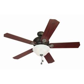 Harbor Breeze 52-in Crosswinds Oil-Rubbed Bronze Ceiling Fan with Light Kit