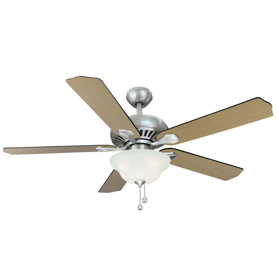 Shop Harbor Breeze 52-in Crosswinds Brushed Nickel Ceiling ...