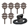 Portfolio 6-Light Bronze Low Voltage Path Lights Kit