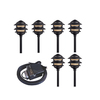 Portfolio 6-Light Black Low Voltage Incandescent Path Lights
