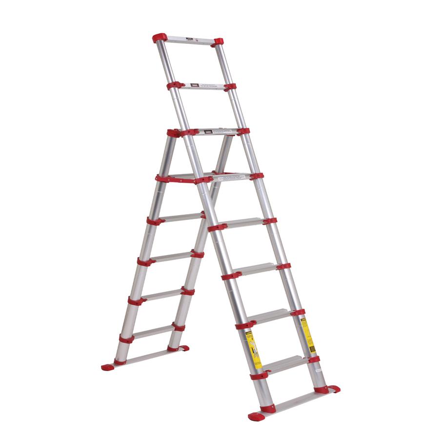 Telescoping Step Ladder : Shop xtend climb ft aluminum lb telescoping