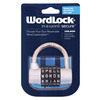 Wordlock 5-Dial Silver Padlock