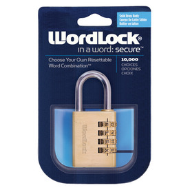 Wordlock 4-Dial Brass Sports Lock