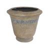 17-1/4-in H x 19-in W x 19-in D Sand Drift Indoor/Outdoor Planter