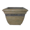  17-in H x 22-in W x 22-in D Brown/Tan Planter