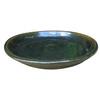 Garden Treasures 7.6-in Green Ceramic Plant Saucer