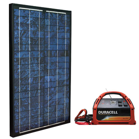 Duracell 12 & 50 Watt Solar Panel Kit from Lowes Solar Energy House