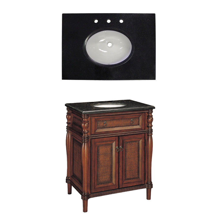 Undermount Single Sink Bathroom Vanity with Granite Top at Lowes.com