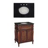 Style Selections Bombay 30-in x 21-in Wood Undermount Single Sink Bathroom Vanity with Granite Top
