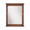 Style Selections 32-3/4-in H x 27-in W Bombay Lightly Antiqued Rectangular Bathroom Mirror