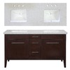 allen + roth 60-in Espresso Newfield Double Sink Bathroom Vanity with Top