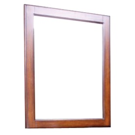 allen + roth Cary 32-in H x 26-in W Warm Brown Rectangular Bathroom Mirror