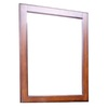 allen + roth 32-in H x 26-in W Cary Warm Brown Rectangular Bathroom Mirror