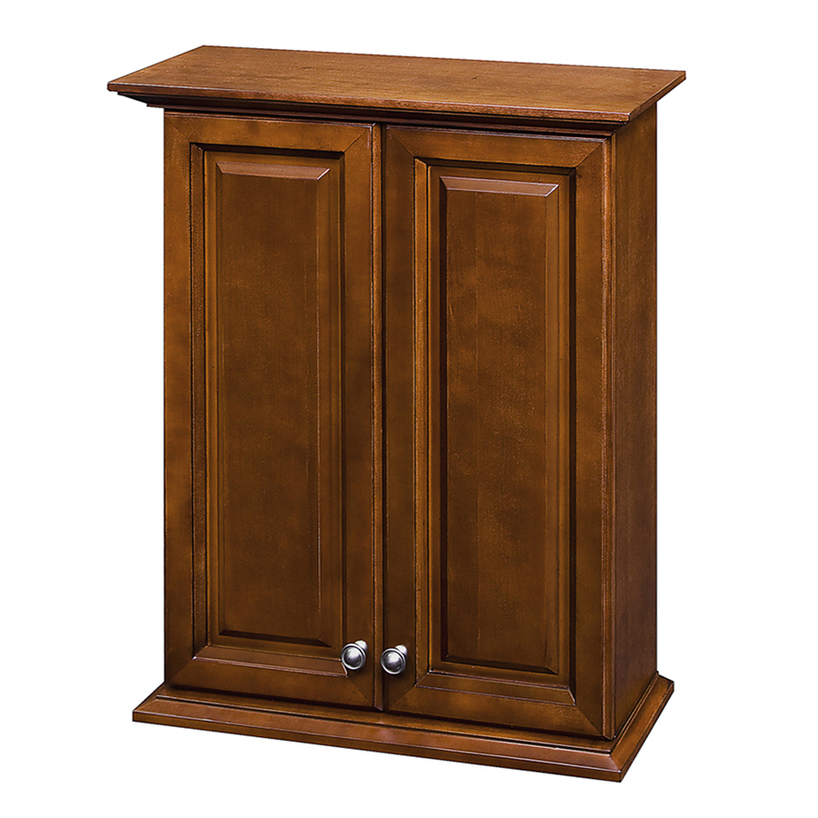Shop allen roth caladium cherry wall cabinet common 24 in actual 24 in at - Allen roth bath cabinets ...