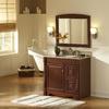 allen + roth Caladium 36-in W x 30-in H Cherry Rectangular Bathroom Mirror