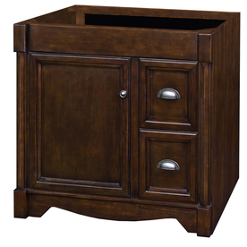 allen + roth Moxley 36-in x 21-1/2-in Cocoa Traditional Bathroom Vanity