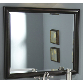 allen + roth Moxley 36-in W x 30-in H Cocoa Rectangular Bathroom Mirror