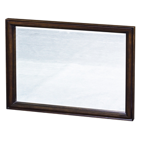 allen + roth Moxley 42-in W x 30-in H Cocoa Rectangular Bathroom Mirror