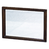 allen + roth 30-in H x 42-in W Moxley Cocoa Rectangular Bathroom Mirror