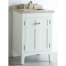 Bathroom Vanity with Natural Marble Top Common: 24in x 20in; Actual