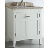 allen + roth Windleton 30-in x 20-5/8-in White Single Sink Bathroom Vanity with Natural Marble Top