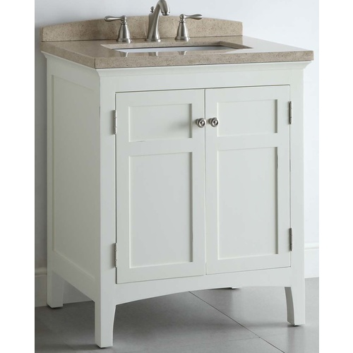 Allen Roth White Windelton Bath Vanity with Stone Top at ...