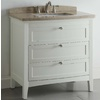 allen + roth Windleton 36-in x 22-in White Single Sink Bathroom Vanity with Natural Marble Top