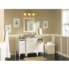 allen + roth Norbury 24-in W x 30-in H White with Weathered Edges Rectangular Bathroom Mirror